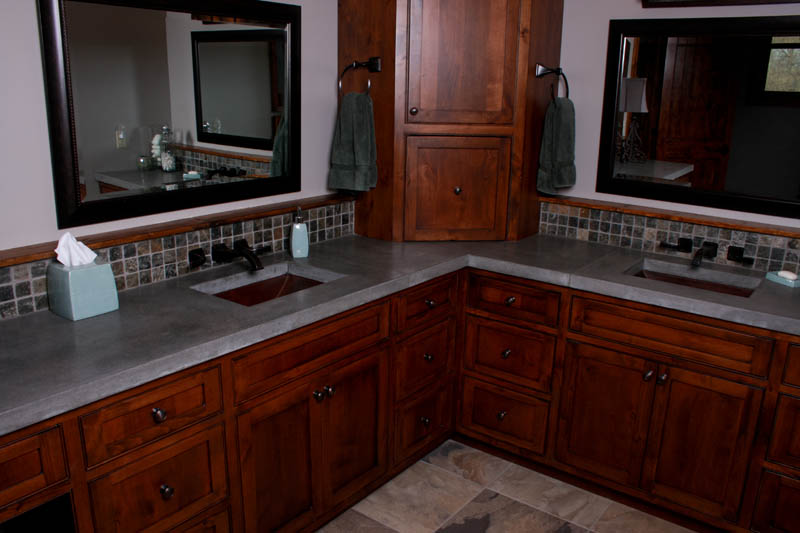 concrete bathroom sink countertop double master vanity countertops overlay