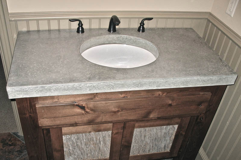 concrete bathroom countertops counter diy vanity brisbane