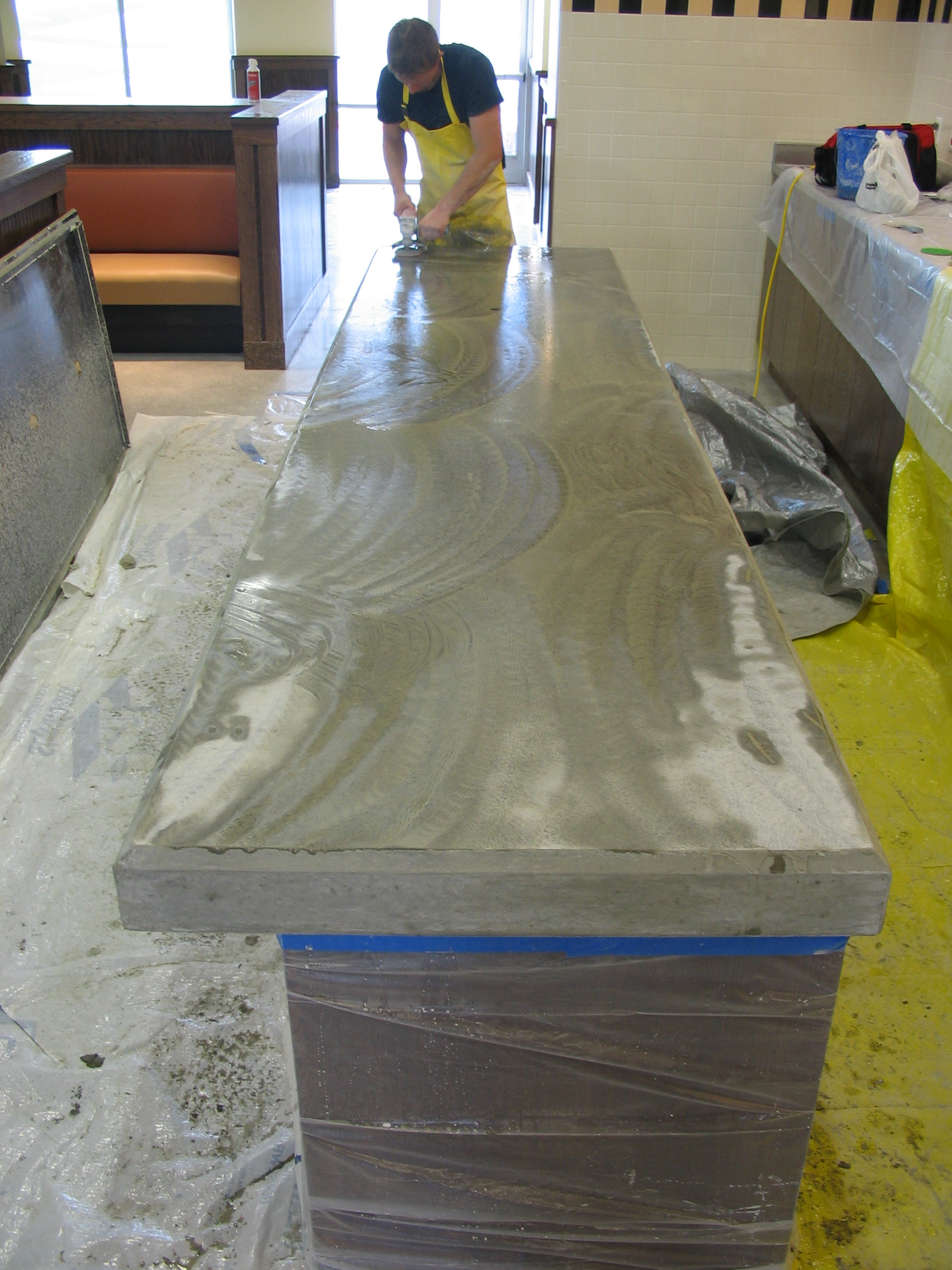 Countertop Material For Commercial Kitchen : commercial-kitchen-countertop - Concrete Creations NWA