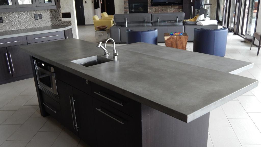 Concrete-Bar-Countertop - Concrete Creations NWA