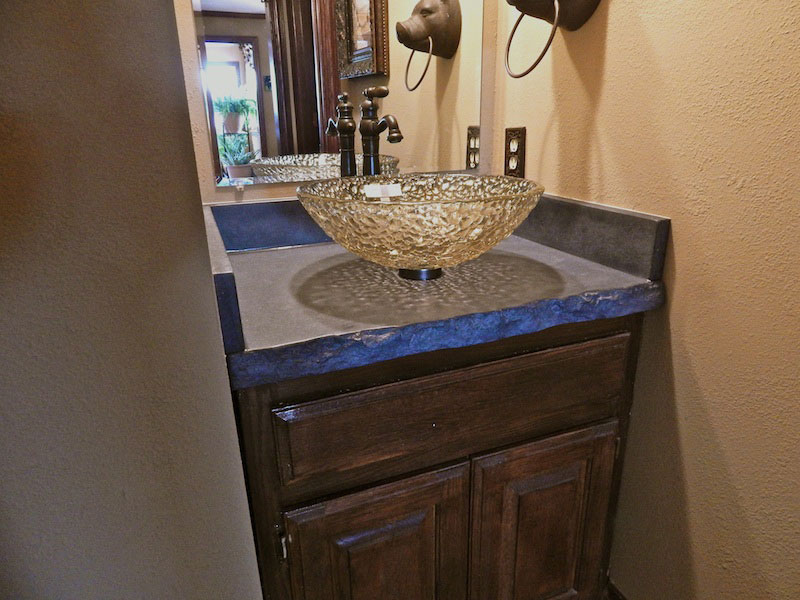 concrete bathroom sink