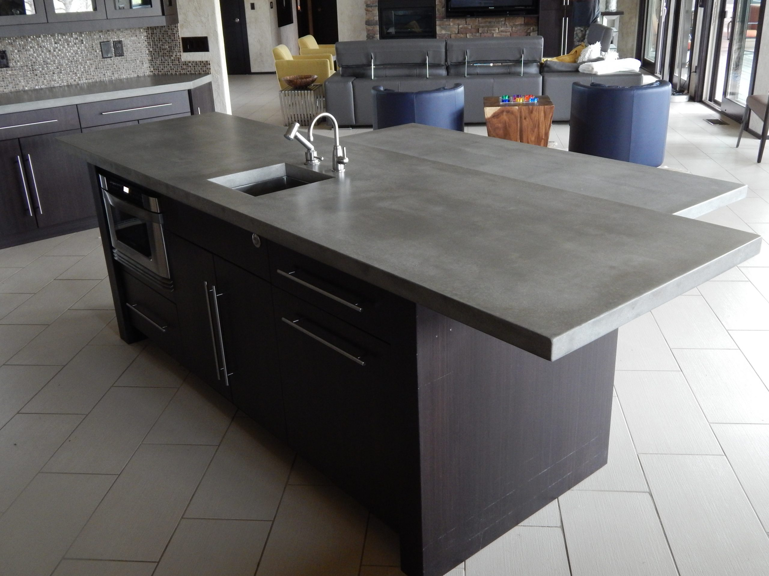 Stained Custom Concrete Countertop Creations Nwa