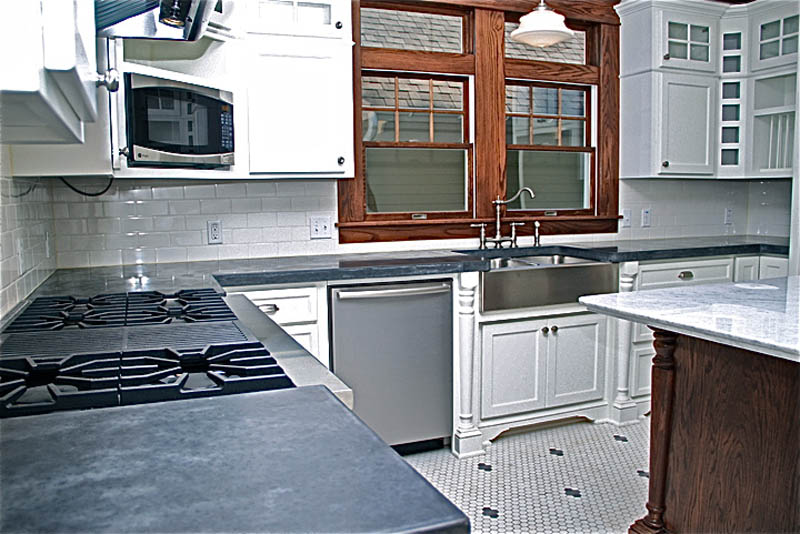 kitchen concrete countertop and sinks