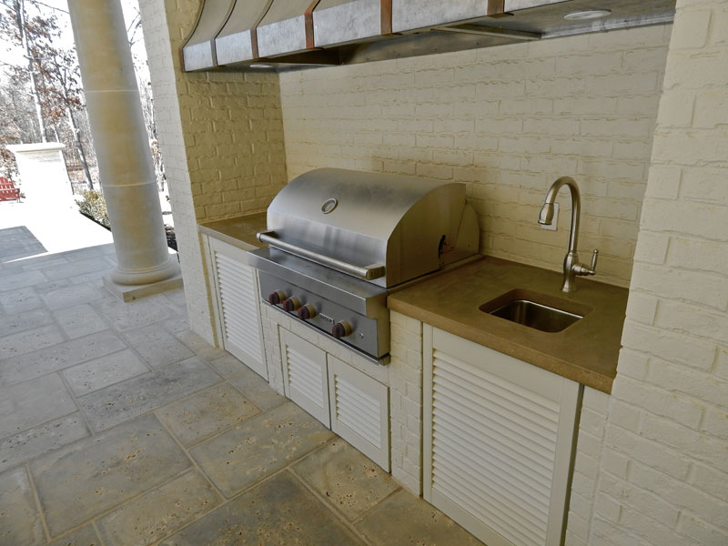 Concrete Outdoor BBQ Grill and kitchen