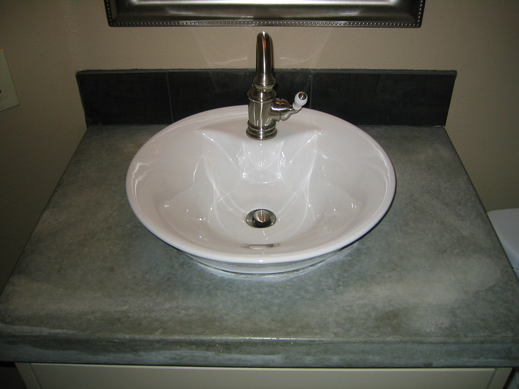 custom bathroom countertops with sink custom bathroom sink countertop concrete creations nwa 23044