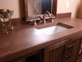 concrete countertops in bathroom